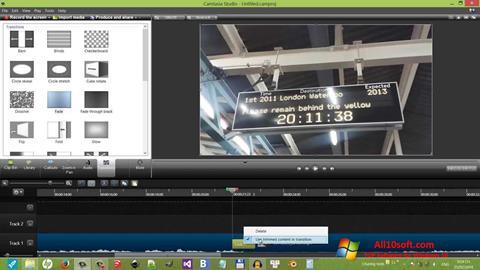 Ekrānuzņēmums Camtasia Studio Windows 10