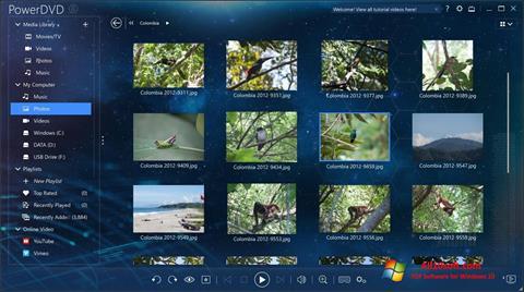 Ekrānuzņēmums PowerDVD Windows 10