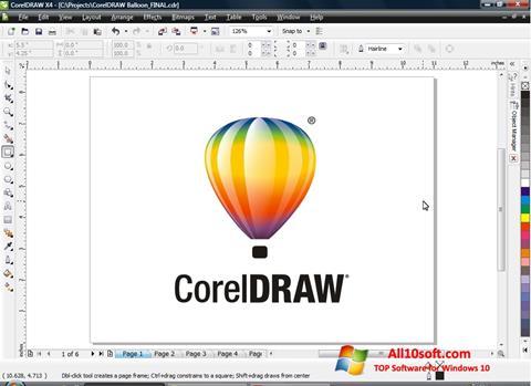 Ekrānuzņēmums CorelDRAW Windows 10
