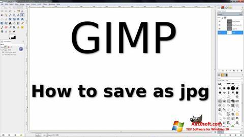 Ekrānuzņēmums GIMP Windows 10