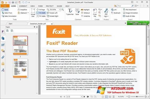 Ekrānuzņēmums Foxit Reader Windows 10