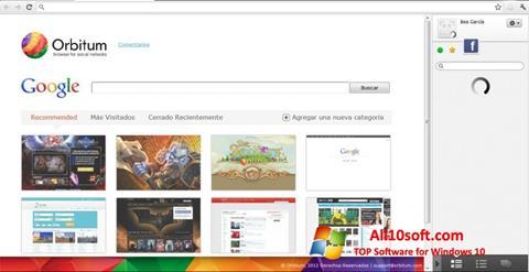 Ekrānuzņēmums Orbitum Windows 10