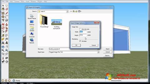 Ekrānuzņēmums Google SketchUp Windows 10