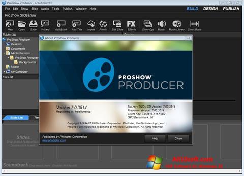 Ekrānuzņēmums ProShow Producer Windows 10