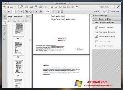 Ekrānuzņēmums Adobe Acrobat Windows 10