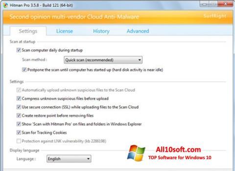 Ekrānuzņēmums HitmanPro Windows 10