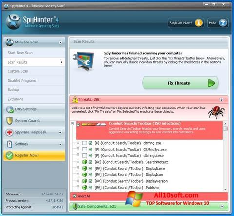 Ekrānuzņēmums SpyHunter Windows 10