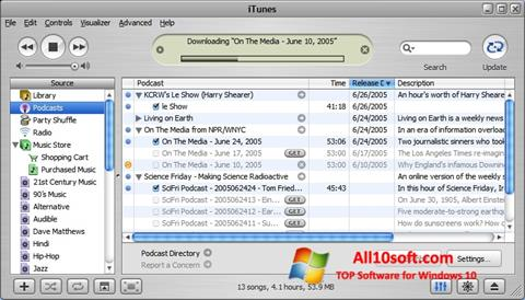 Ekrānuzņēmums iTunes Windows 10