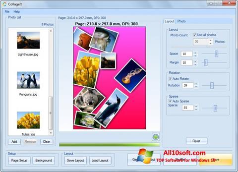 Ekrānuzņēmums CollageIt Windows 10