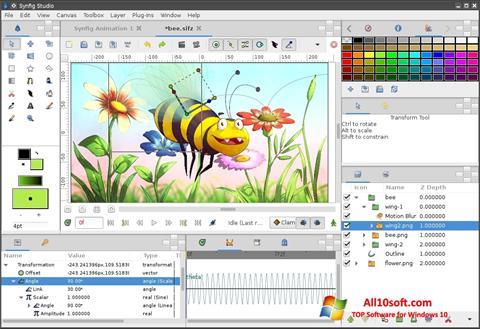 Ekrānuzņēmums Synfig Studio Windows 10