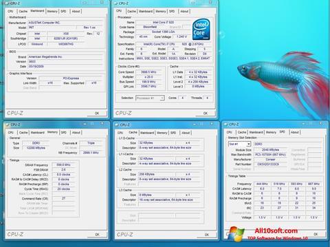 Ekrānuzņēmums CPU-Z Windows 10