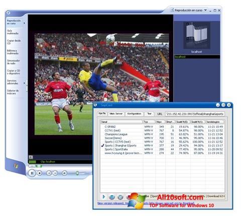 Ekrānuzņēmums SopCast Windows 10