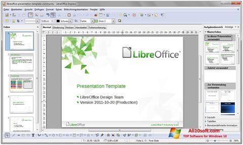 Ekrānuzņēmums LibreOffice Windows 10