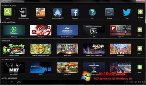 Ekrānuzņēmums BlueStacks Windows 10