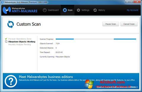 Ekrānuzņēmums Malwarebytes Anti-Malware Free Windows 10
