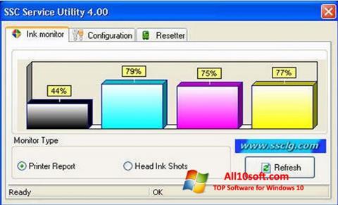 Ekrānuzņēmums SSC Service Utility Windows 10