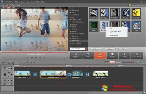 Ekrānuzņēmums Movavi Video Suite Windows 10