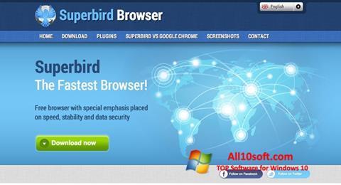 Ekrānuzņēmums Superbird Windows 10