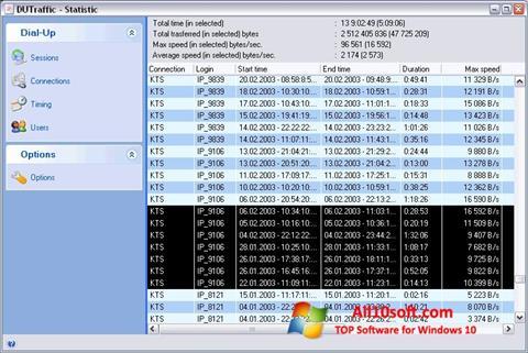 Ekrānuzņēmums DUTraffic Windows 10
