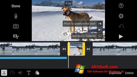 Ekrānuzņēmums iMovie Windows 10