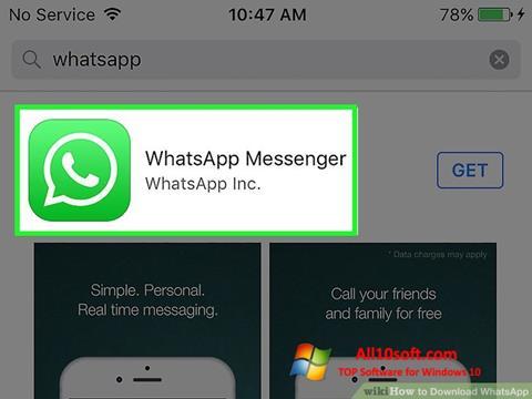 Ekrānuzņēmums WhatsApp Windows 10