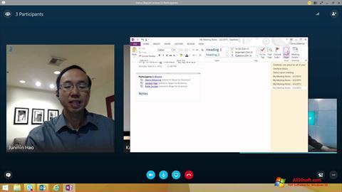 Ekrānuzņēmums Skype for Business Windows 10