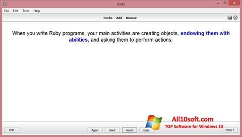Ekrānuzņēmums Anki Windows 10