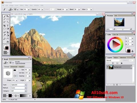Ekrānuzņēmums Artweaver Windows 10
