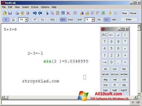 Ekrānuzņēmums RedCrab Calculator Windows 10