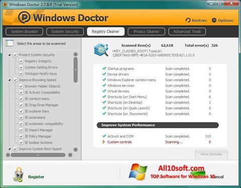 Ekrānuzņēmums Windows Doctor Windows 10