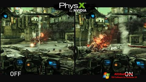 Ekrānuzņēmums NVIDIA PhysX Windows 10
