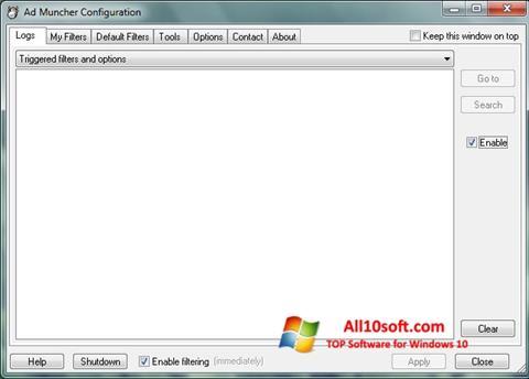 Ekrānuzņēmums Ad Muncher Windows 10