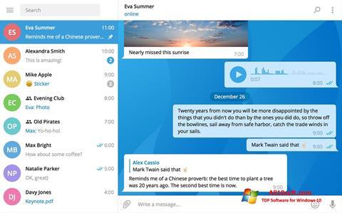 Ekrānuzņēmums Telegram Desktop Windows 10