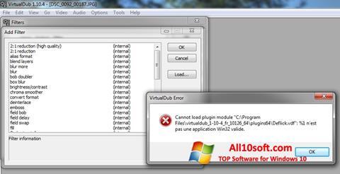 Ekrānuzņēmums VirtualDub Windows 10